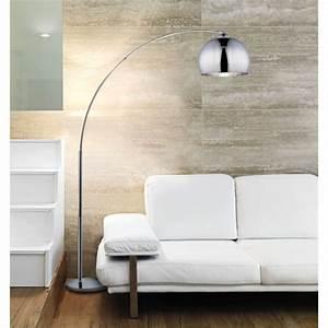Lampadaire Salon Design : desi lampadaire arc chrome hauteur 166 cm achat vente desi lampadaire arc chrome 166 m tal ~ Preciouscoupons.com Idées de Décoration