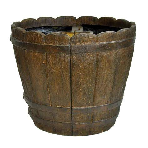 home depot barrel planter mpg 18 in dia cast mailbox planter in barrel