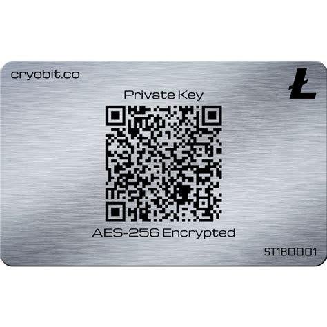 cryo card stainless steel bitcoin cold storage