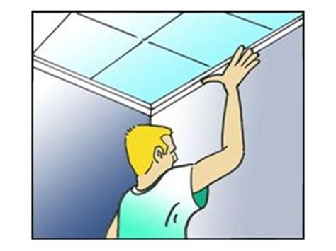 pose de dalles de plafond plafond livios