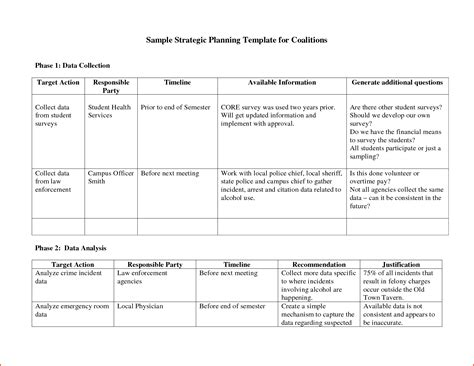 Strategic Plan Template Word