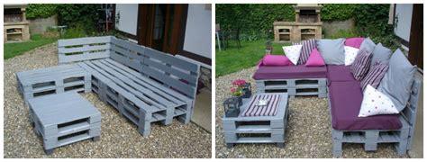 peindre canapé tissu 5 projets en palette pour le jardin