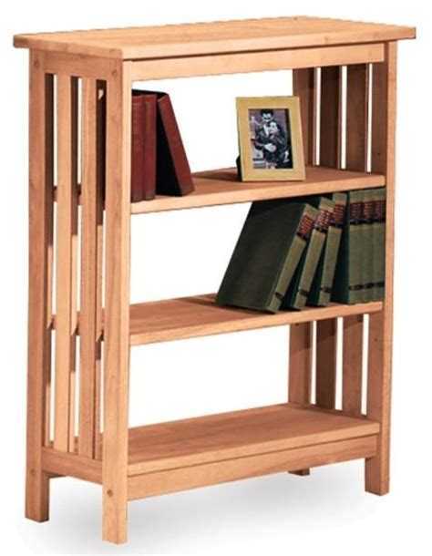 Unfinished Bookcases Free Shipping by Mission Hardwood Bookcase Free Shipping Sh 3630m