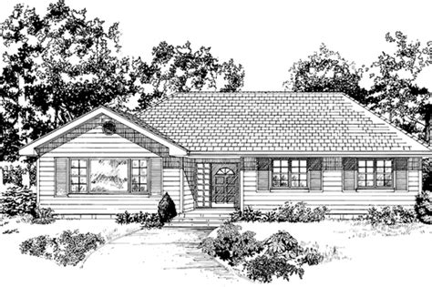 Colonial Style House Plan 3 Beds 2 Baths 1484 Sq/Ft Plan