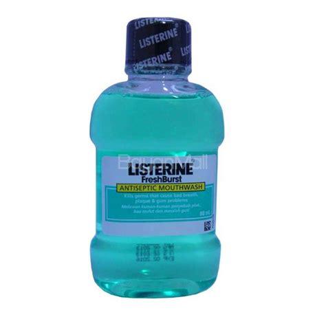 listerine fresh burst antiseptic mouthwash 80ml