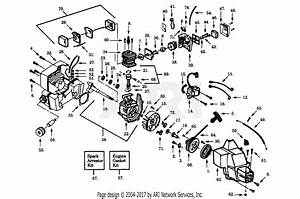 Poulan Lt7000 Gas Trimmer Parts Diagram For Power Unit