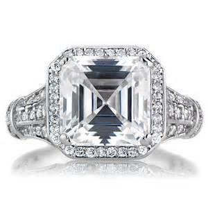 asscher cut engagement ring barbara 39 s estate style asscher cut engagement ring