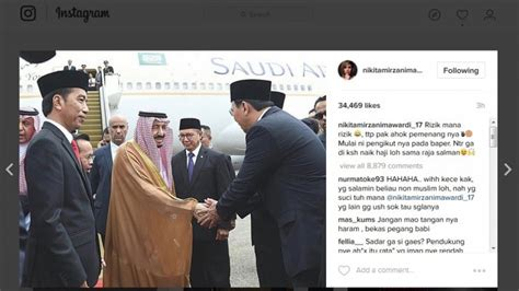 Nikita Mirzani Cibir Rizieq Shihab Akun Instagram
