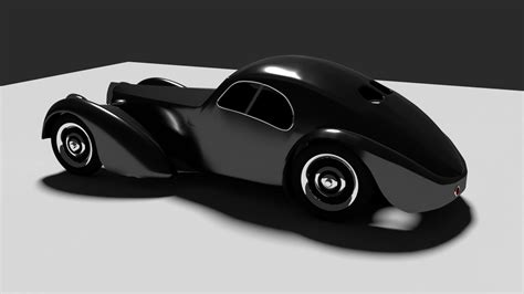 The third and final was destroyed in a train accident in the 1950s. Bugatti Atlantic 1938 3D model   CGTrader