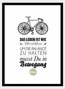 Das Leben Ist Wie Ein Fahrrad : originaldruck druck das leben ist wie fahrrad fahren ein designerst ck von formart zeit ~ Orissabook.com Haus und Dekorationen