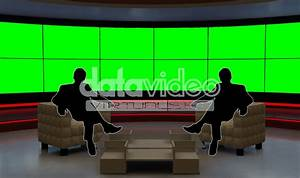 Talkshow 001 TV Studio Set-Virtual Green Screen Background ...