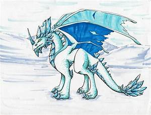 Image Gallery ice dragon flying drawing