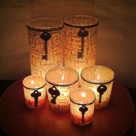 decorating glass candle holders crafts pinterest