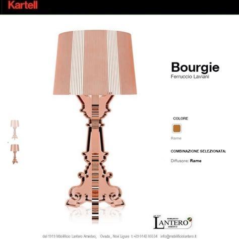 le bourgie kartell illuminazione kartell bourgie rame lada da tavolo