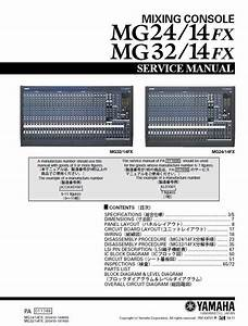 Yamaha Mg24 14fx   Mg32 14fx Mixing Console Service Manual