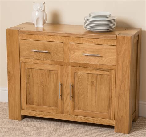 Low Wooden Sideboard by Kuba Solid Oak Wood Small Sideboard 2 Drawers And 2 Doors