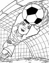 Football Coloring Pages English Print Soccer Goalkeeper Printable sketch template