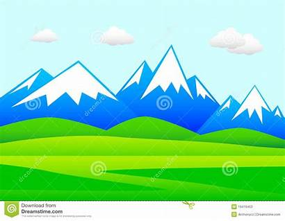 Mountains Landscape Clipart Mountainous Animated Clipground Summer