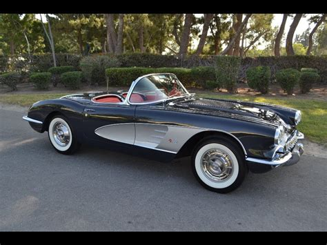 SOLD 1958 Chevrolet Corvette Convertible Charcoal - YouTube