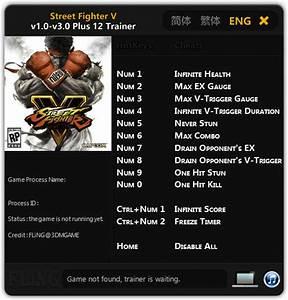 Street Fighter 5  Trainer  12 V1 0 - 3 0  Fling  - Download