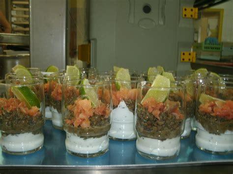 lentille cuisine recette verrine saumon fumé lentilles la cuisine d 39 elior