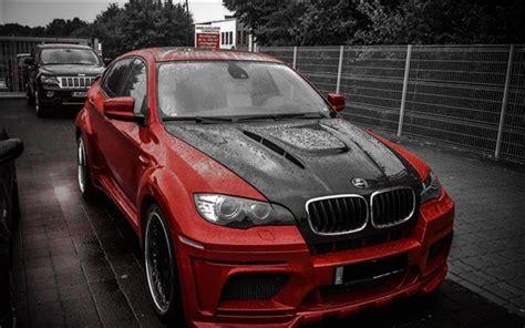 Bmw X6m Hamann Voiture Rouge Noir Fonds D'écran