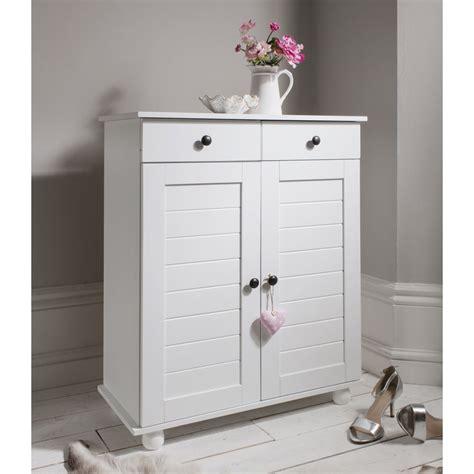 Shoe Cupboard White by Shoe Storage Unit