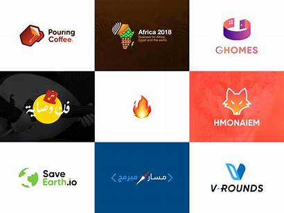 Logos Dribbble Colors Creative Vector Animation Golden