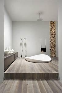 Salle De Bain Blanche Et Bois : des salles de bain tout en blanc et bois floriane lemari ~ Preciouscoupons.com Idées de Décoration