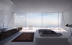 bedroom with a view modern holiday house greece interior