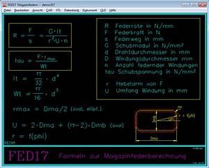 Druckfeder Berechnen : fed17 magazinfedern ~ Themetempest.com Abrechnung