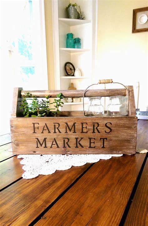 vintage farmers market wooden toolbox