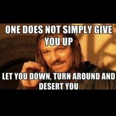 Rick Rolled Meme - 1000 images about wisdom of boromir on pinterest memes lotr and so true