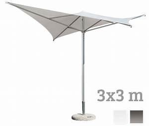Sonnenschirme Gastronomie 5x5m : sonnenschirm scolaro vela 3x3 stockschirm aluminiumschirm parasol vom sonnenschirm fachh ndler ~ Yasmunasinghe.com Haus und Dekorationen