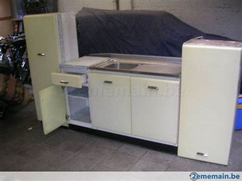 vintage armoire de cuisine en metal evier ée 50 60
