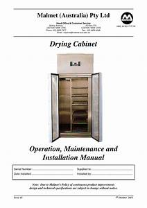 Drying Cabinet Operation And Maintenance Manual Issue 15