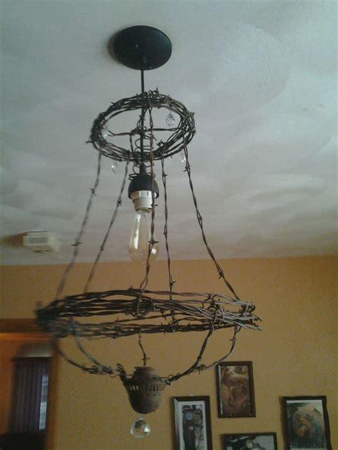 diy wire chandelier 665 best galvanized metal images on barb wire