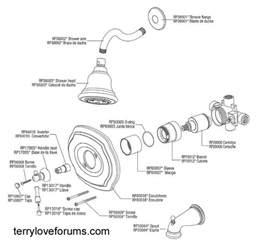 Moen Kitchen Faucet Diverter Valve by Pegasus Shower Cartridge Removal Terry Love Plumbing