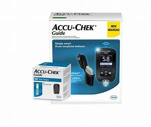 Accu Chek Guide Meter Kit With Accu Chek Guide 50 Test