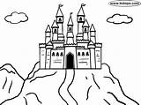 Castle Mountain Coloring Castles Bouncy Drawing Kidopo Printable Getdrawings Huge Knight English Mountains sketch template