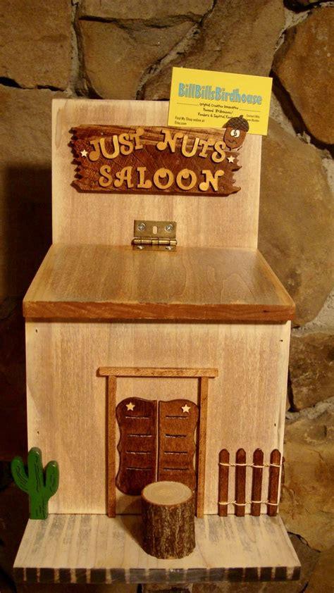 nuts saloon squirrel feeder  billbillsbirdhouse
