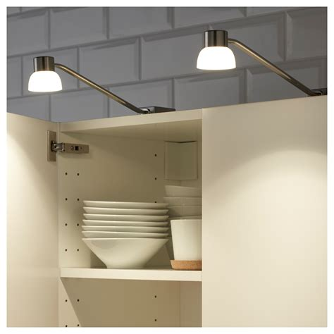 lindshult led cabinet lighting nickel plated ikea