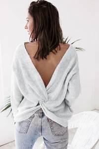 pull elise gris clair With vêtements originaux pour femme