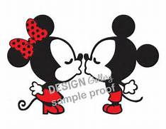 Kissing Mickey Mouse  ...Mickey Mouse And Minnie Kissing