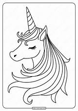 Unicorn Printable Pdf Coloring Sleeping Coloringoo Ages Colouring Sheets Books sketch template