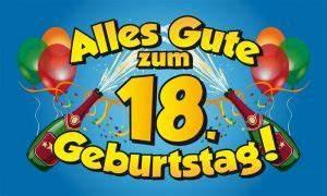 Geburtstagsbilder Zum 18 : 18 geburtstag fahne flagge 90x150 cm fahnen und ~ A.2002-acura-tl-radio.info Haus und Dekorationen