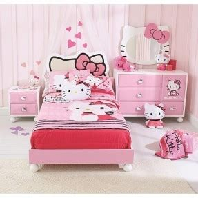 hello kitty bedroom sets hello kitty bedroom furniture set hollywood thing 15542 | hello kitty 4 piece bedroom in a box this is cute but i dont think id actually gwt this for