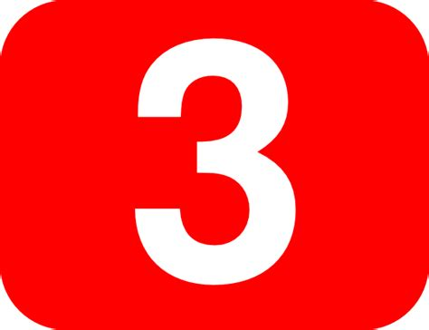 Number 3 Red Background Clip Art At Clker.com