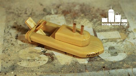 How To Make A Toy Boat by Scrap Wood City How To Make A Wooden Toy Boat