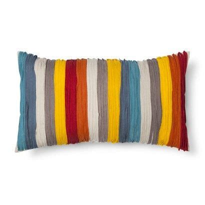 Target Bedroom Throw Pillows by Threshold Oblong Multicolored Taped Pillow Target 24 99